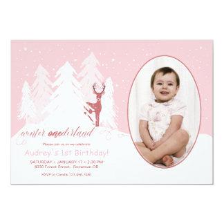 Winter Onederland Custom Birthday Invitation