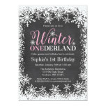 Winter ONEderland Snow Chalkboard 1st Birthday 13 Cm X 18 Cm Invitation Card