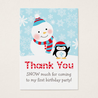 Winter ONEderland   Thank You Favor Tags