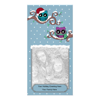Winter Owl Holiday Card Photo Greeting Card