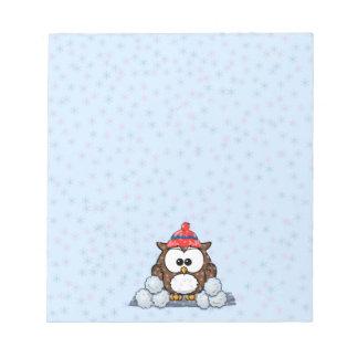 winter owl notepads