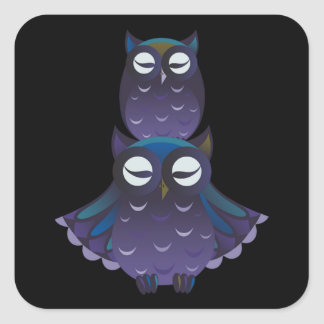 Winter Owl Piggyback Stickers and Labels