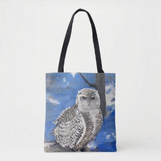 winter owl. tote bag