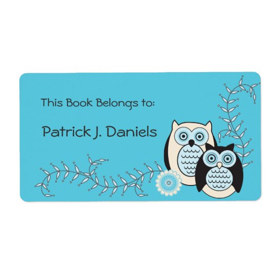 Winter Owls Bookplates