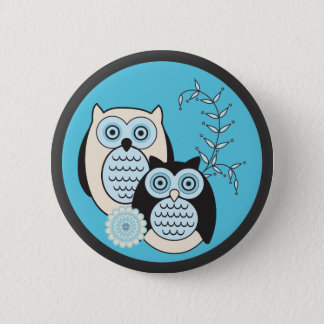 Winter Owls Button