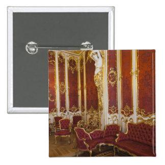 Winter Palace, Hermitage Museum, interior 2 15 Cm Square Badge