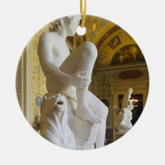 Winter Palace, Hermitage Museum, statue gallery Round Ceramic Decoration