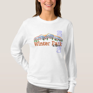 Winter Park Colorado elevation ladies hoodie