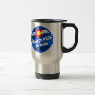 Winter Park Colorado mountain burst travel mug