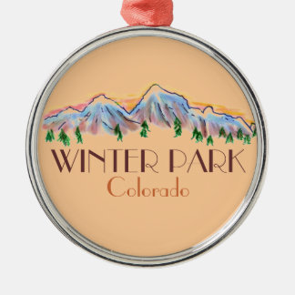 Winter Park Colorado scenic mountain ornament