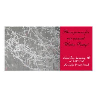 Winter Party Invitation Photo Card