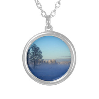 Winter Pastures St Joseph Island Silver Plated Necklace