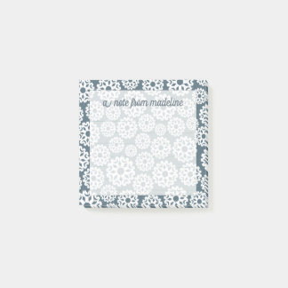 Winter Pattern | A Crowd of Snowflakes Post-it Notes