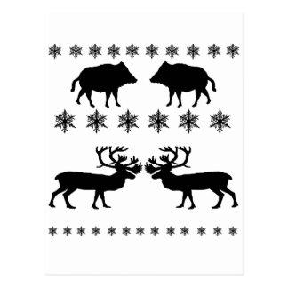 Winter PAttern Postcard