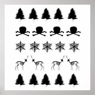 Winter Pattern Poster
