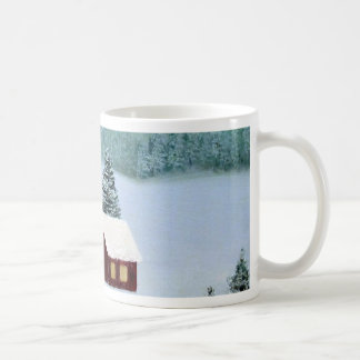Winter Peace Frozen Ice Snow River Trees Landscape Coffee Mug