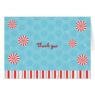 Winter Peppermint Candy Thank You Note Cards