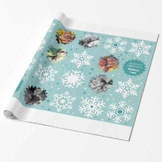 Winter Photo Custom Christmas Gift Wrapper