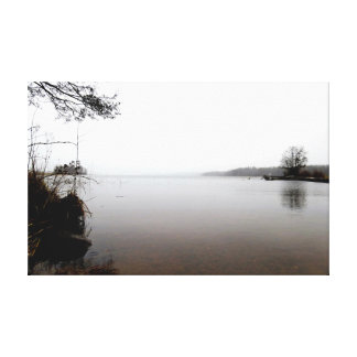 Winter picture wide sea canvas print