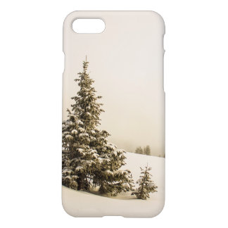 Winter Pine Snow Scene - iphone 7 case