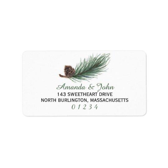 Winter Pine Watercolor | Address Label