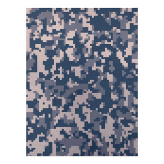 Winter Pixelated Camoflage Poster