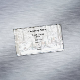 Winter Playground Magnetic Business Cards