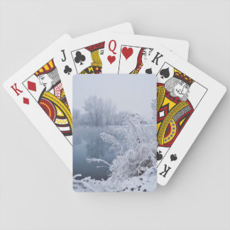winter playing cards