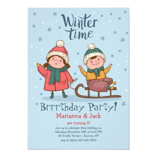 Winter Playtime Invitation