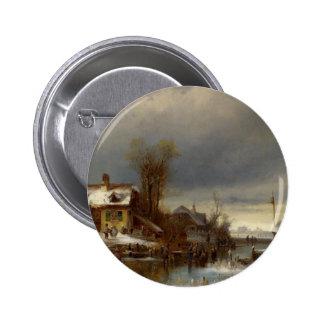 Winter Pleasure - Wintervergnugen 6 Cm Round Badge