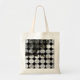 Winter Polka Dots Country Road + Snow Canvas Bag