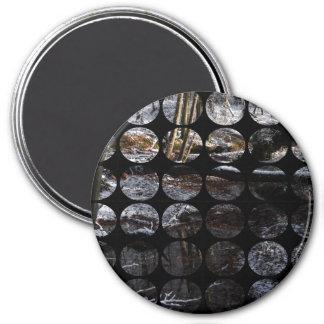 Winter Polka Dots Forest Brook Refrigerator Magnet