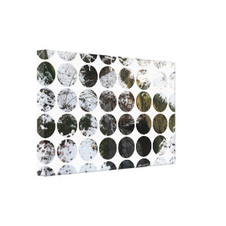 Winter Polka Dots Forest Reflection Canvas Prints