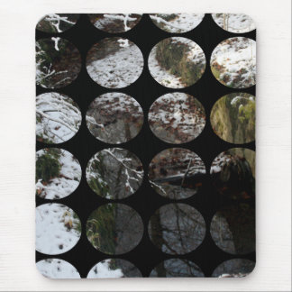 Winter Polka Dots Forest Reflection Mousepads