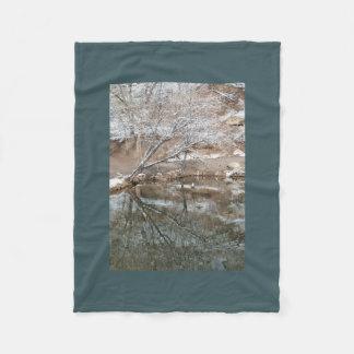 Winter Pond Fleece Blanket