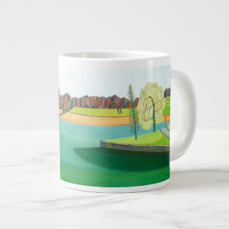 Winter Pond Large Coffee Mug