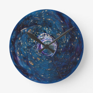 Winter Portal Round Clock