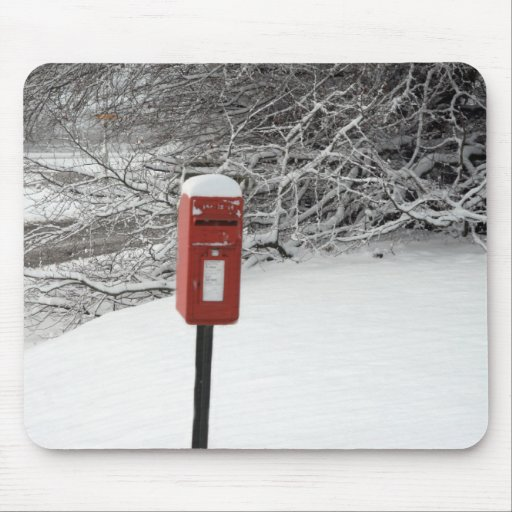 Winter Post Box Mouse Pad