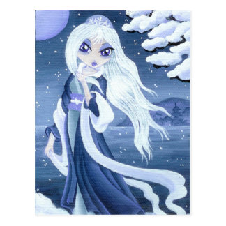 Winter Princess in Snow postcard