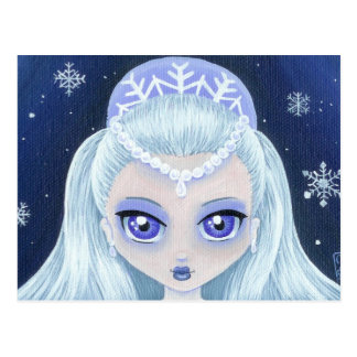 Winter Princess Portrait Postcard