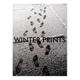 WINTER PRINTS POSTCARD