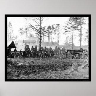 Winter Quarters of Brandy Station, VA 1864 Poster