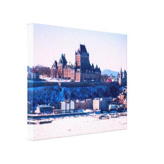 Winter | Quebec City Canvas Print