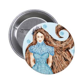 Winter Queen Pinback Button