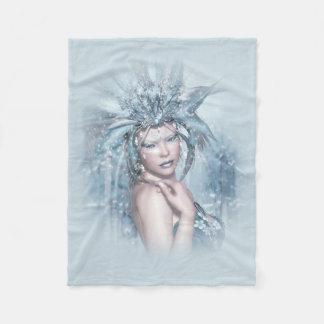 Winter Queen Small Fleece Blanket