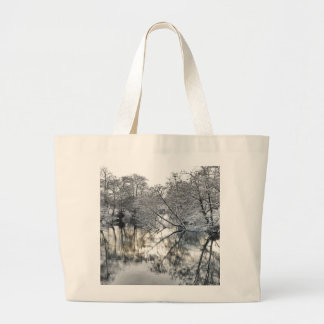 Winter Reflections Large Tote Bag