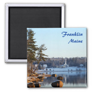 Winter Reflections Square Magnet