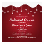 Winter Rehearsal Dinner Snowflake Decoration Red Personalized Invitation