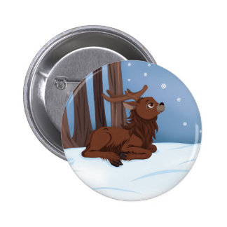 Winter Reindeer Buttons