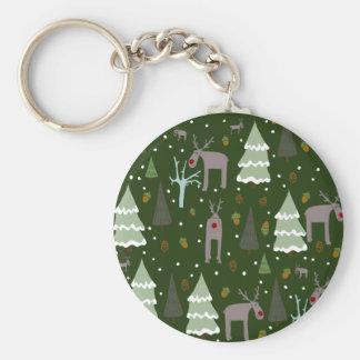 Winter Reindeer Key Ring